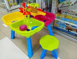 Столик песочница и стульчик, для игры с песком KinderWay