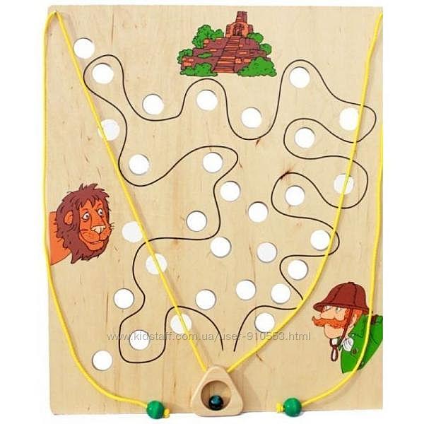 Игровая панель из дерева Охотник Lam Toys, тренажер, бизиборд