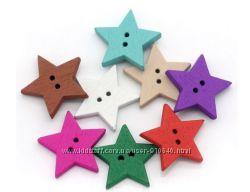 пуговицы для творчества и рукоделия звезды