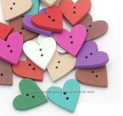 пуговицы для творчества и рукоделия сердца