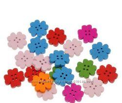 пуговицы для творчества и рукоделия цветы