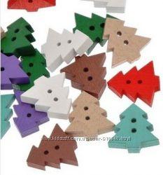Пуговици для декора новогодние