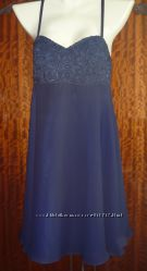 Вечернее платье 44-46р, натуральный шифон