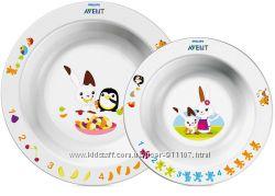 Наборы детской посуды Philips Avent, тарелки, ложки, вилки, поильники со ск