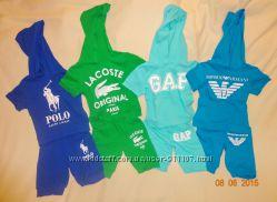 Летние костюмы на мальчиков 2-3 года Emporio Armani, Lacoste, Polo, GAР.