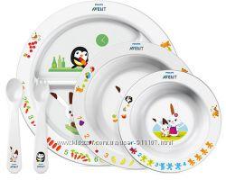 Набор детской посуды Philips Avent scf71600, тарелки, ложка, вилка