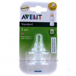 Соски силиконовые Avent для бутылочек Стандарт. Все размеры, со склада
