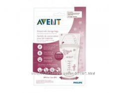 Пакеты для хранения грудного молока 180мл 25шт AVENT Philips SCF60325