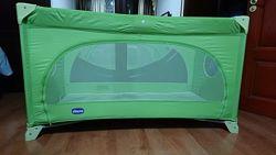 Манеж-кровать Chicco Easy Sleep Green Jam Trаvel идеальное состояние