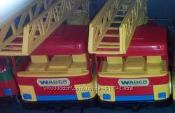 Машины wader пожарная, мусоровоз, бетономешалка, подъемный кран