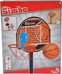 Игровой набор Баскетбол с корзиной Simba