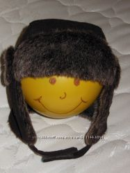 Крутая зимняя шапочка на мальчика 46-48 объем