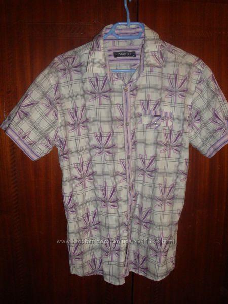 Мужская рубашка летняя, бу, р. XL