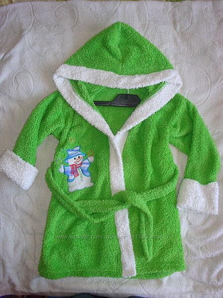 Махровый банный халат, р.4-5 лет, бу, Украина