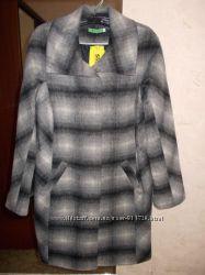 Новое стильное пальто в клетку, S-M