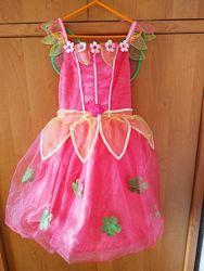 Платье принцессы, феи, бабочки, хлопушки, бусинки