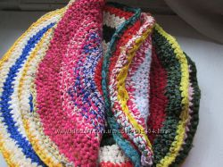 коврики   круглые-ручная вязка  из ниток
