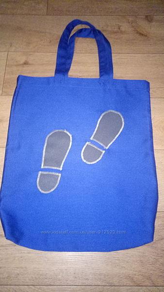 Эко-сумки и эко рюкзачки для сменной обуви