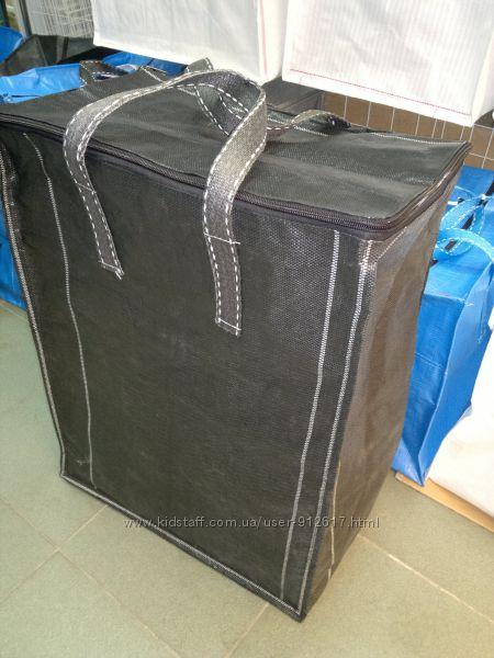 Хозяйственные сумки баулы особо прочные вертикальные чёрные