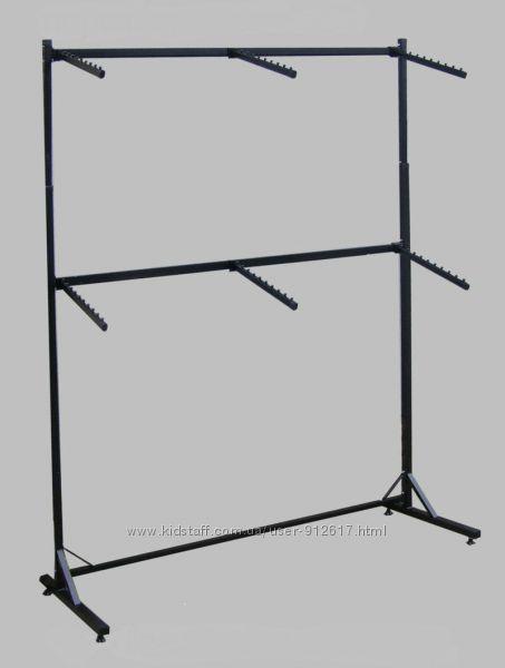 Стойка для одежды напольная двухъярусная 2 х 2, 1 м