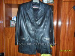 -Супер цена-Кожаная курточка-пиджак весна-осень на 48-50р