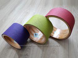 Колесо для йоги из дерева йога-колесо разные цвета и диаметр 20, 25, 30см