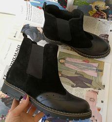 Женские черные Timberland оксфорд ботинки натуральная кожа весна осень