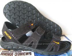 Nike кожаные мужские сандалии 3 полоски сандали босоножки обувь