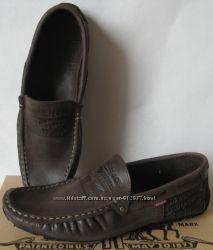 Стильные кожаные мужские мокасины Levis весна лето осень туфли