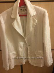 Пиджак Mango женский, летний, белый