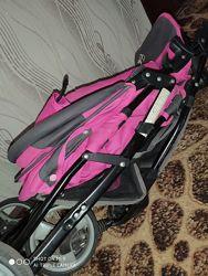Детская прогулочная коляска Everflo E-320 малиновая