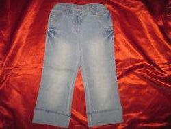 Бриджи брюки красивые летние для девочки 5-6-7 лет 110-116-122 см