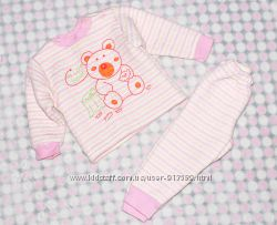 Нежный набор для малютки на синтепоне до1-1, 5года. кофта и штанишки