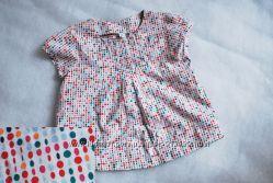 Стильная блузочка в горошек 80р  блуза рубашка блузка топ