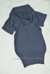 Теплая кофта туника  платье Only с воротником-хомутом XS-S-M
