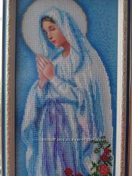 Икона вышита бисером Мария непорочного зачатия, Молитва Богородицы