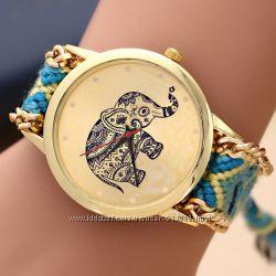 Часы Женева с ремешком ручной работы  Подарок к 8 марта