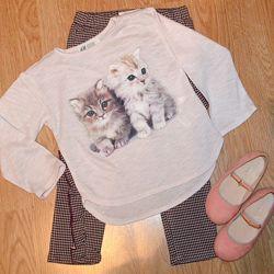 Тоненький хлопковый свитерочек H&M 2-4года/98-104см