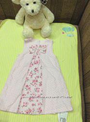 Новое шикарное платье из микровельвета с бантом Mothercare