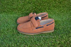 Детские школьные мокасины туфли замш коричневые р32 - 37