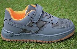 Демисезонные детские кроссовки аналог Nike Air Force Grey найк аир форс сер