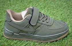 Детские демисезонные кроссовки Nike Air Force найк аир форс хаки р31-36