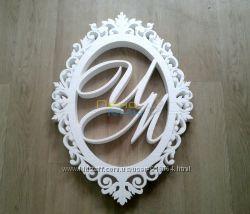 Монограммы для декора свадьбы