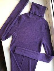 Гольфик в рубчик , фиолетовый