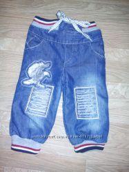 Теплые джинсы в отличном состоянии