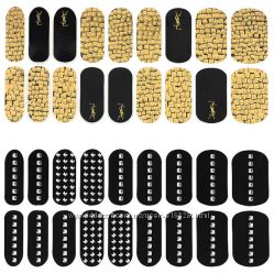 YSL Couture Metal Manicure набор наклейки лак для ногтей и пилочка