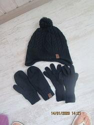 Шапка, варежки, перчатки H&M
