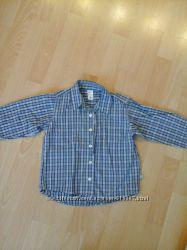 Рубашка синяя на 3-4 года old navi