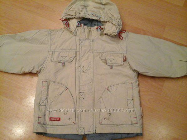 Куртка бежевая на рост 98 см. 3-5 лет. wojcik