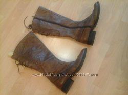 сапоги демисезон коричневого цвета, размер 37